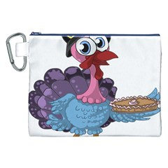 Turkey Animal Pie Tongue Feathers Canvas Cosmetic Bag (xxl)