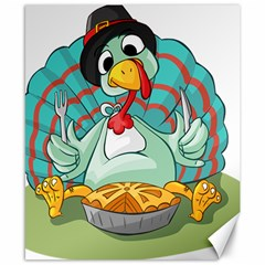 Pie Turkey Eating Fork Knife Hat Canvas 8  X 10