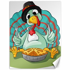 Pie Turkey Eating Fork Knife Hat Canvas 36  X 48
