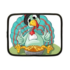 Pie Turkey Eating Fork Knife Hat Netbook Case (small)