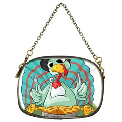 Pie Turkey Eating Fork Knife Hat Chain Purses (one Side)
