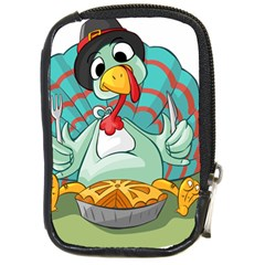 Pie Turkey Eating Fork Knife Hat Compact Camera Cases