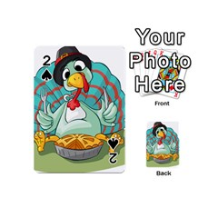 Pie Turkey Eating Fork Knife Hat Playing Cards 54 (mini)
