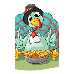 Pie Turkey Eating Fork Knife Hat Shower Curtain 48  X 72  (small)