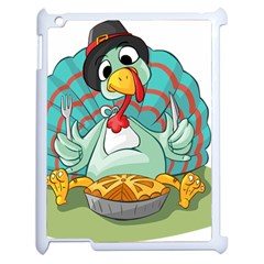 Pie Turkey Eating Fork Knife Hat Apple Ipad 2 Case (white)