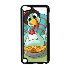 Pie Turkey Eating Fork Knife Hat Apple Ipod Touch 5 Case (black)