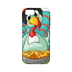 Pie Turkey Eating Fork Knife Hat Apple Iphone 5 Classic Hardshell Case (pc+silicone)
