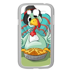 Pie Turkey Eating Fork Knife Hat Samsung Galaxy Grand Duos I9082 Case (white)
