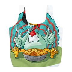 Pie Turkey Eating Fork Knife Hat Full Print Recycle Bags (l)