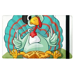 Pie Turkey Eating Fork Knife Hat Apple Ipad Pro 9 7   Flip Case