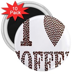 Love Heart Romance Passion 3  Magnets (10 Pack)