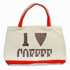 Love Heart Romance Passion Classic Tote Bag (red)