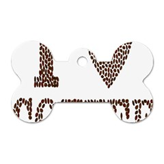Love Heart Romance Passion Dog Tag Bone (two Sides)