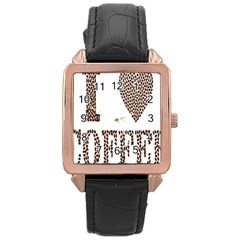 Love Heart Romance Passion Rose Gold Leather Watch