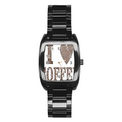 Love Heart Romance Passion Stainless Steel Barrel Watch