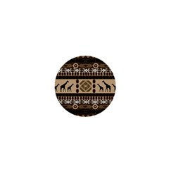 Giraffe African Vector Pattern 1  Mini Buttons