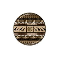 Giraffe African Vector Pattern Hat Clip Ball Marker (4 Pack)