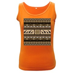 Giraffe African Vector Pattern Women s Dark Tank Top