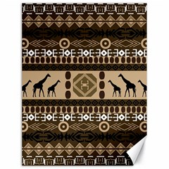 Giraffe African Vector Pattern Canvas 18  X 24