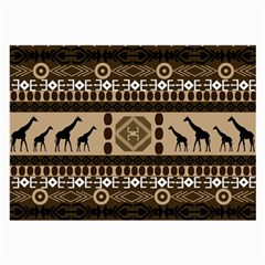 Giraffe African Vector Pattern Large Glasses Cloth (2 Side)