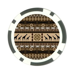 Giraffe African Vector Pattern Poker Chip Card Guard