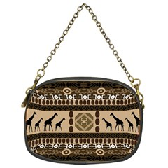 Giraffe African Vector Pattern Chain Purses (one Side)