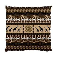 Giraffe African Vector Pattern Standard Cushion Case (one Side)