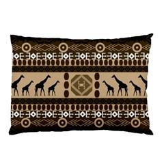 Giraffe African Vector Pattern Pillow Case