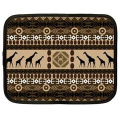 Giraffe African Vector Pattern Netbook Case (xxl)