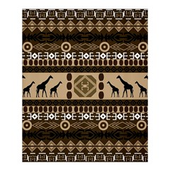 Giraffe African Vector Pattern Shower Curtain 60  X 72  (medium)