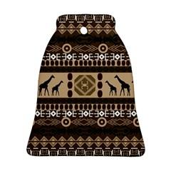 Giraffe African Vector Pattern Ornament (bell)