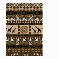 Giraffe African Vector Pattern Small Garden Flag (two Sides)