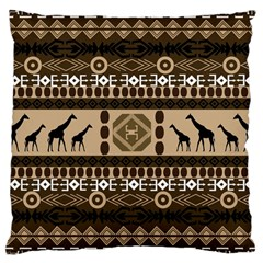 Giraffe African Vector Pattern Large Cushion Case (one Side)