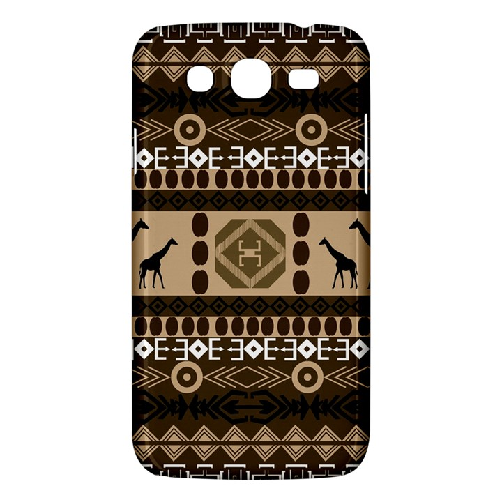 Giraffe African Vector Pattern Samsung Galaxy Mega 5.8 I9152 Hardshell Case