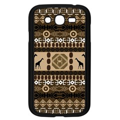 Giraffe African Vector Pattern Samsung Galaxy Grand Duos I9082 Case (black)