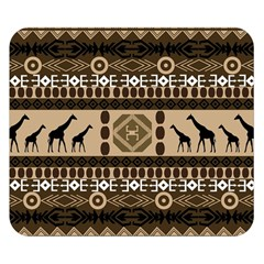 Giraffe African Vector Pattern Double Sided Flano Blanket (small)