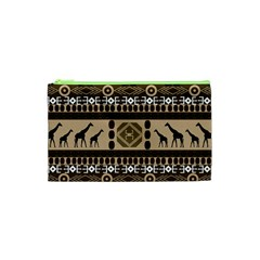 Giraffe African Vector Pattern Cosmetic Bag (xs)