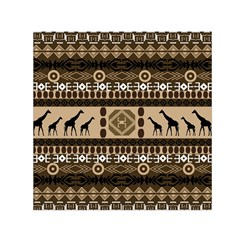 Giraffe African Vector Pattern Small Satin Scarf (square)