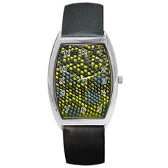Lizard Animal Skin Barrel Style Metal Watch