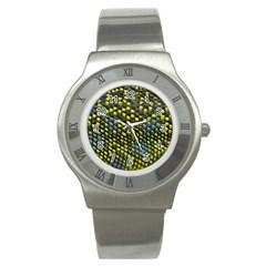Lizard Animal Skin Stainless Steel Watch