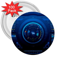 Technology Dashboard 3  Buttons (100 Pack)