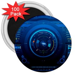Technology Dashboard 3  Magnets (100 Pack)