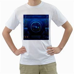 Technology Dashboard Men s T Shirt (white) (two Sided)