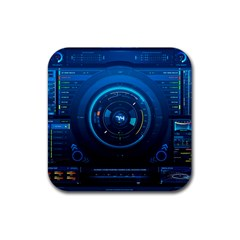 Technology Dashboard Rubber Square Coaster (4 Pack)