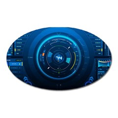 Technology Dashboard Oval Magnet
