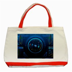 Technology Dashboard Classic Tote Bag (red)