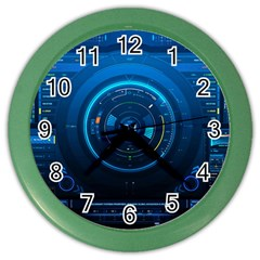 Technology Dashboard Color Wall Clocks