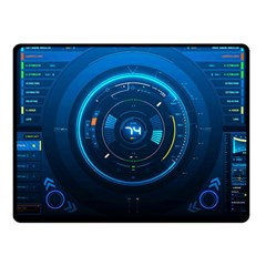 Technology Dashboard Fleece Blanket (small)