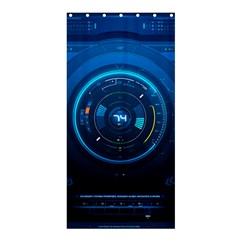 Technology Dashboard Shower Curtain 36  X 72  (stall)