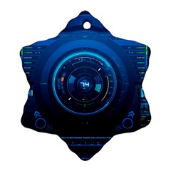 Technology Dashboard Snowflake Ornament (two Sides)